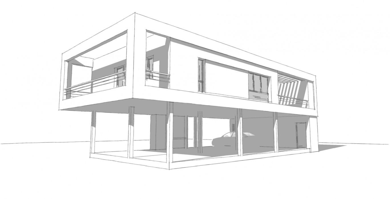 Plan d 39 un architecte maison moderne for Un architecte